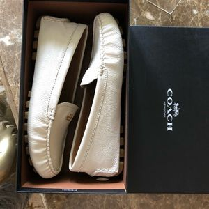 Coach ivory loafer size 8